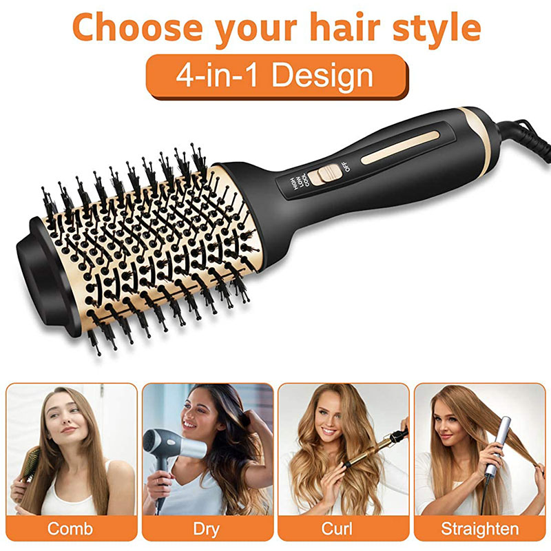 Hair Dryer Brush Hot Air Brush ,Multifunctional Hair Dryer and Volumizer Blow Dryer Brush in One, 4 in 1 Hair Comb Styler Professional Hair Brush Blow Dryer with Negative Ionic and Ceramic Coating